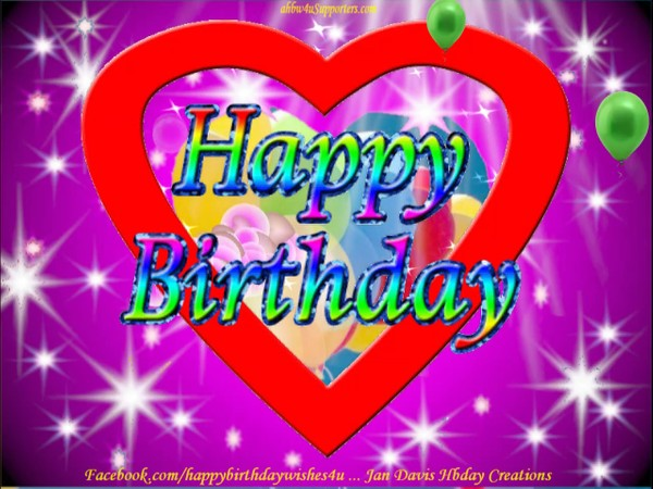 2 Colorful Hearts Hbday wishes