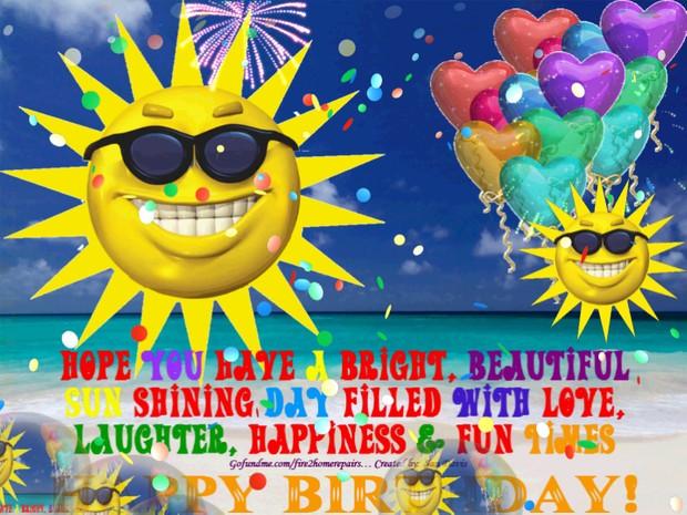 Sunny Day Happy Birthday Wishes