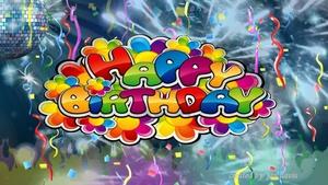 Disco Party Happy Birthday