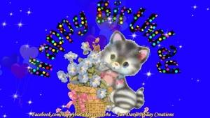 Diamond Hearts Happy Birthday Wishes