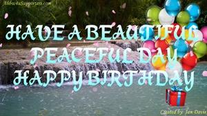 Beautiful Waterfall Happy Birthday Wishes