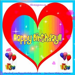 Rainbow Heart Hbday Wishes