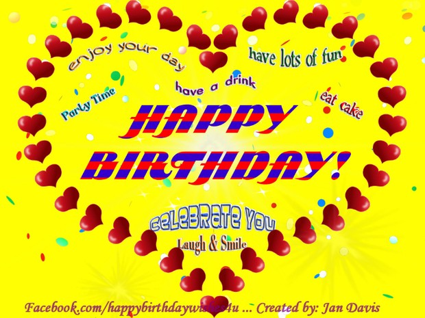 Lots Of Hearts Animated Happy Birthday Wishes 4U