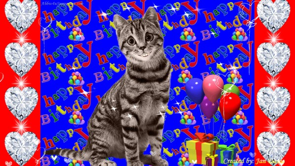 Cindy Cat Sings Happy Birthday Wishes