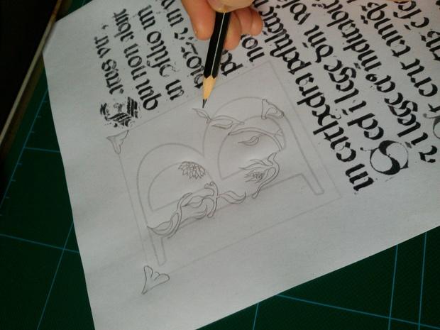 Capolettera - Miniature initial [PDF file]