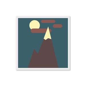 Midnight Mountain - Square Art Print - Digital Download