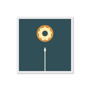 Charge Your Donut - Square Art Print - Digital Download