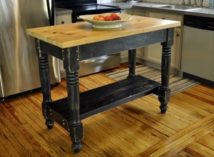 Farmhouse Kitchen Island Woodworking Plans