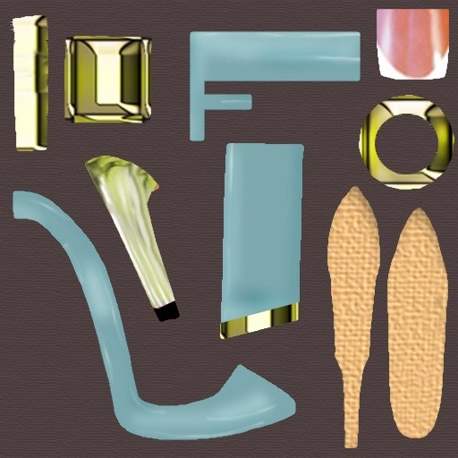 texture pack ,ESMERALDA HEELS