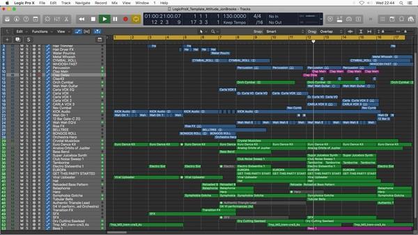 Attitude | Logic Pro X Template | Download (Electro-Funk Pop Dance Music)