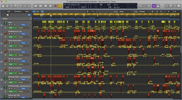 TEEN TAAL (Complete Soundtrack) Logic Pro X Template Download - Jon Brooks Music Composer