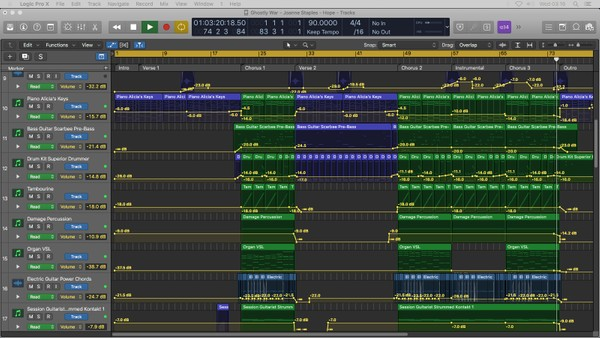 GHOSTLY WAR - Logic Pro X Template Download (Pop/Rock Song)
