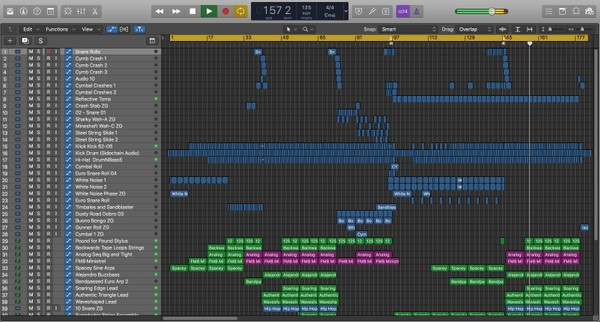 Cosmic Butterflies - Logic Pro X Template Download (Upbeat Electro EDM)
