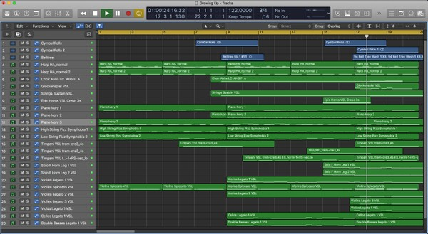 Growing Up - Logic Pro X Template Download (Orchestral Children's TV Commercial Music) Jon Brooks