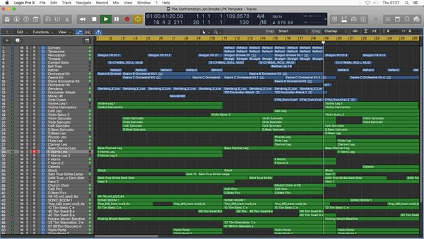 Logic Pro X Template Download - The Confrontation (Orchestral) Jon Brooks