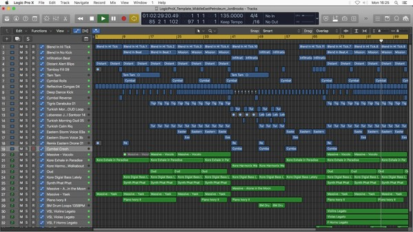 Middle East Petroleum - Logic Pro X Template Project Download (Corporate Instrumental Music)