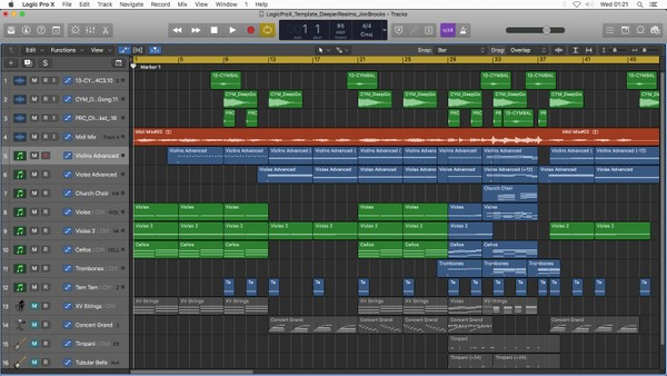 DEEPER REALMS - Logic Pro X Download Template - Jon Brooks