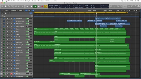 HAPPY DAYS - Logic Pro X Download Template (Happy Feel Good Acoustic Pop Music) Jon Brooks