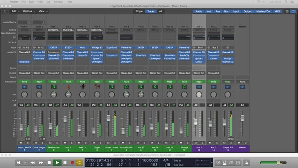 60s ACCOMPANIMENT - Logic Pro X Template Download (Sixties Instrumental Music) JON BROOKS