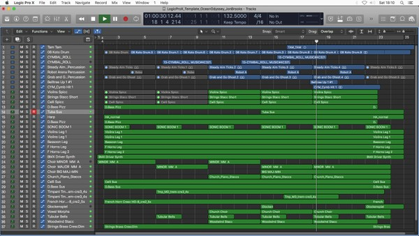 Ocean Odyssey - Logic Pro X Template Download (Dramatic Orchestral Music) Jon Brooks