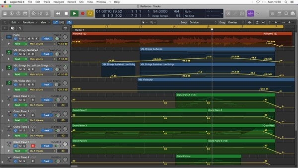 Radiance - Logic Pro X Project Template Download (Piano and Strings)