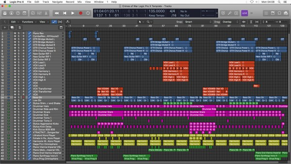 Crimes of War - Logic Pro X Template Download (Pop Song)