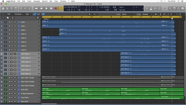 AFTERNOON TEA | Logic Pro X Template Download | Jon Brooks (Classical Music)