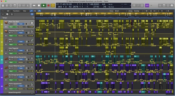 DARK HIGHLANDS (Complete Soundtrack) Logic Pro X Download Template - Jon Brooks - Film Composer