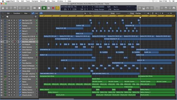 Musical Machinery - Logic Pro X Template Download (Dramatic Sci-Fi Factory Music) Jon Brooks