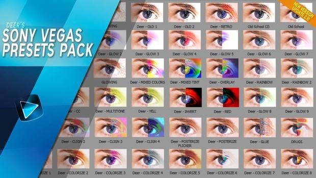 Sony Vegas Presets Pack (300 vegas effects)