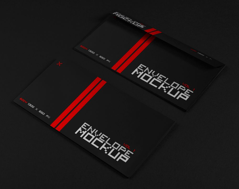Psd Envelope Mockup   VOL 1   Front And Back
