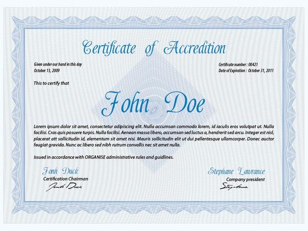 PSD CertificateDiploma Template Vol 1