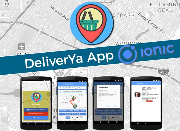 DeliverYa  Ionic Full App Code