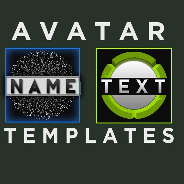 2 Avatar / Logo Templates! (FULLY CUSTOMISABLE)