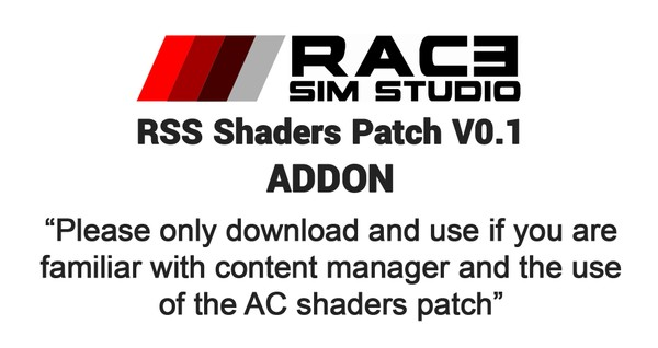 RSS Shaders Patch V0.1 Add-On