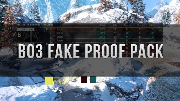 Bo3 Fake Proof Pack
