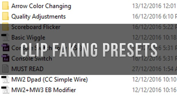 Clip Faking Presets