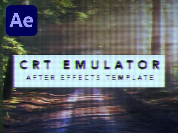 CRT Emulator (Retro Pixelation After Effects Template)