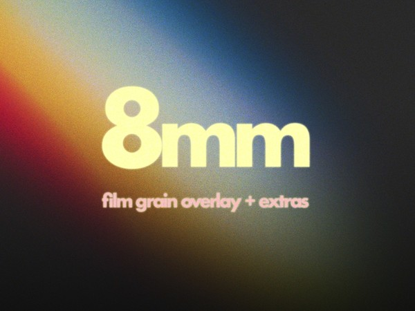 Super 8mm Film Grain Overlay