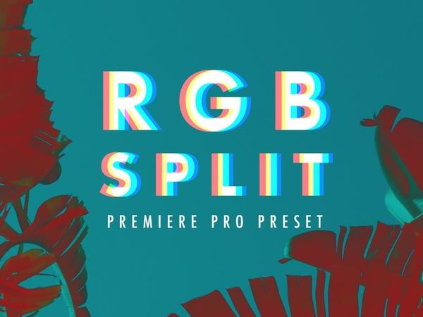 RGB Split Preset for Adobe Premiere Pro