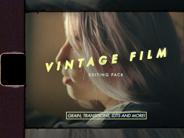 Vintage Film Editing Pack (Grain, Transitions, LUTs and Overlays)