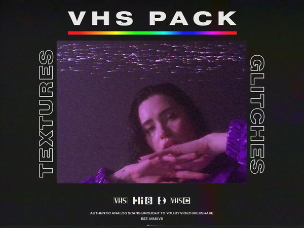 VHS Glitches and Textures Overlay Pack
