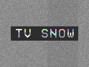 TV Snow (stock footage)