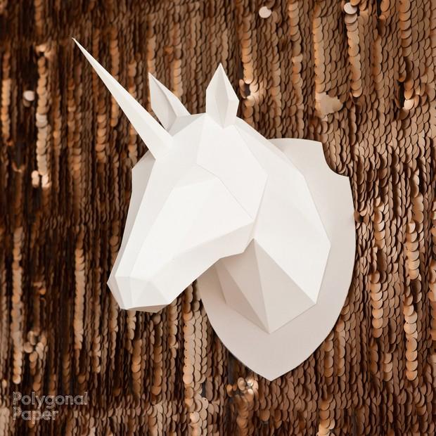 2D Unicorn Head Template RUS/ENG/ESP/FRA