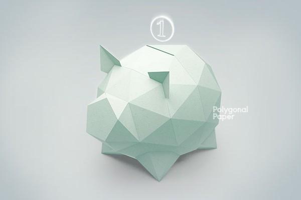 2D Paper Piggy Template