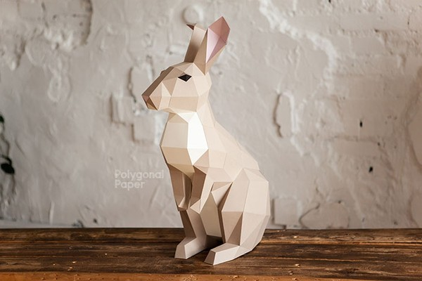 Rabbit M Digital Files for Papercraft PDF Template for Download