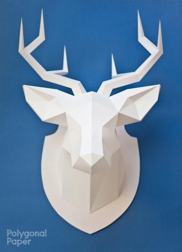 La plantilla 2d de  la cabeza de ciervo (La instrucción en español)