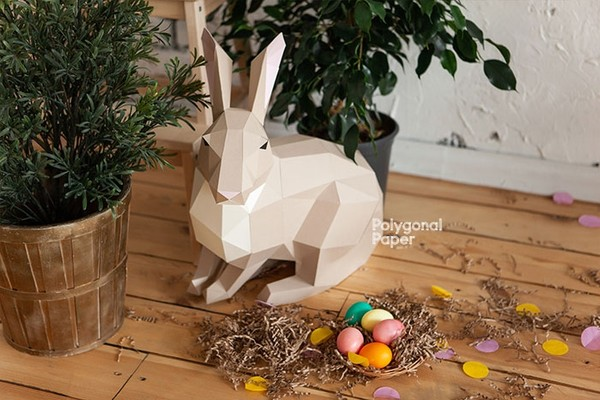 Rabbit S Digital Files for Papercraft PDF Template for Download