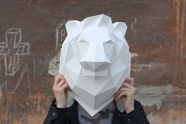 2D Lion's Head Template RUS/ENG/ESP/FRA