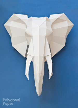2D Elephant Head Template (With manual on English)